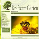 Website für Kräfte im Garten