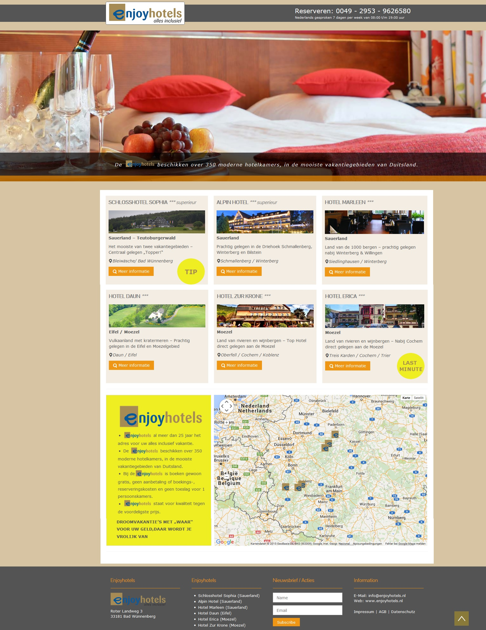 Enjoyhotels Landingpage