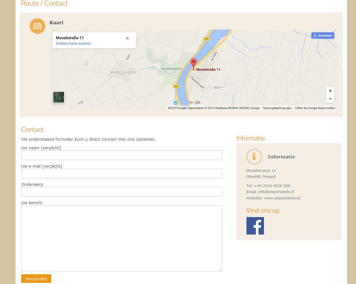 Enjoyhotels Kontaktseite